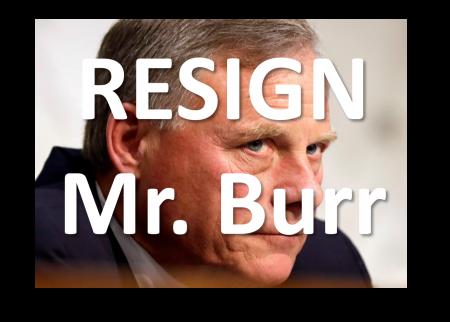 Resign, Mr. Burr